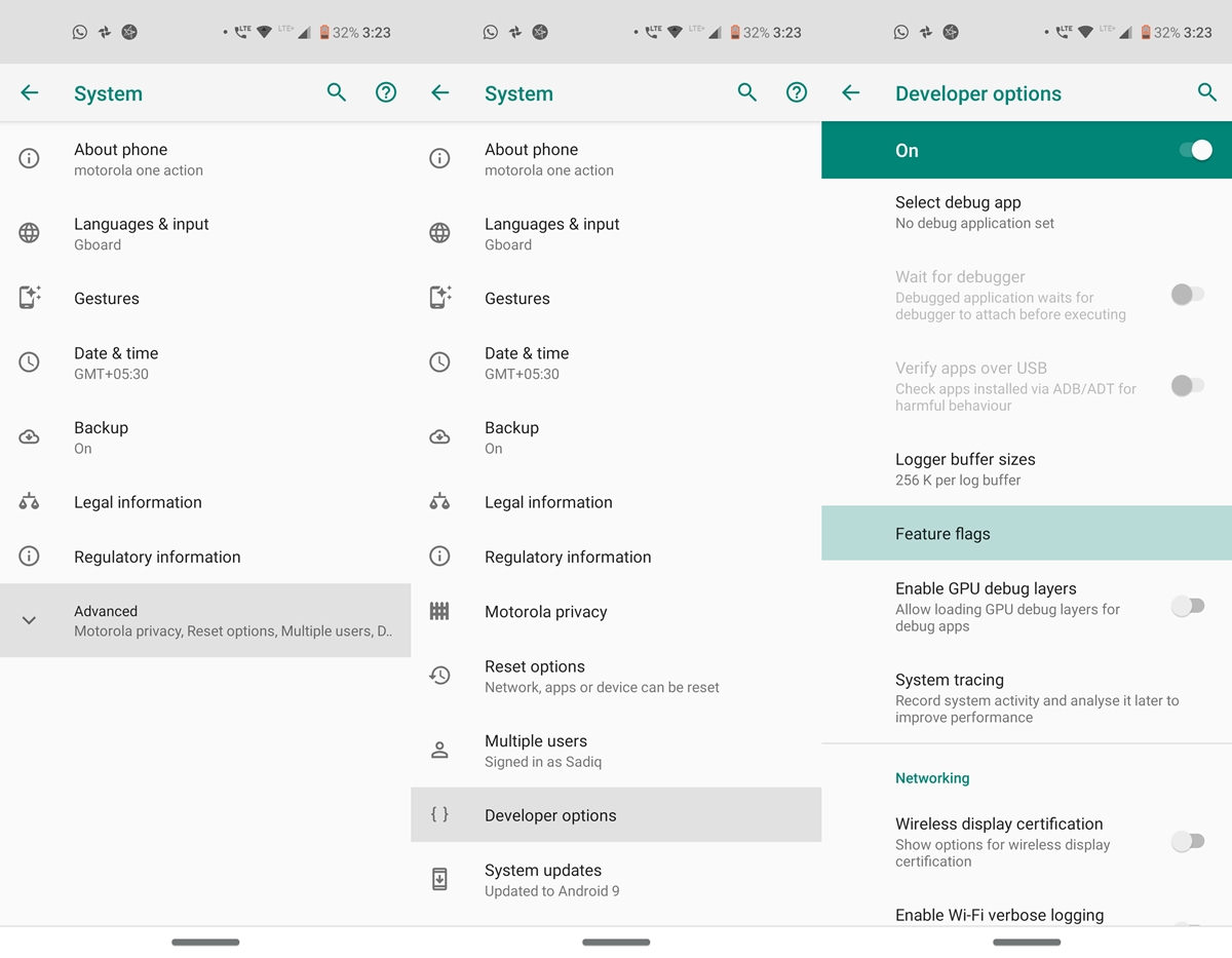 enable android 9 feature flags