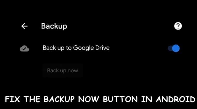 fix backup google drive