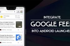 google feed android launcher