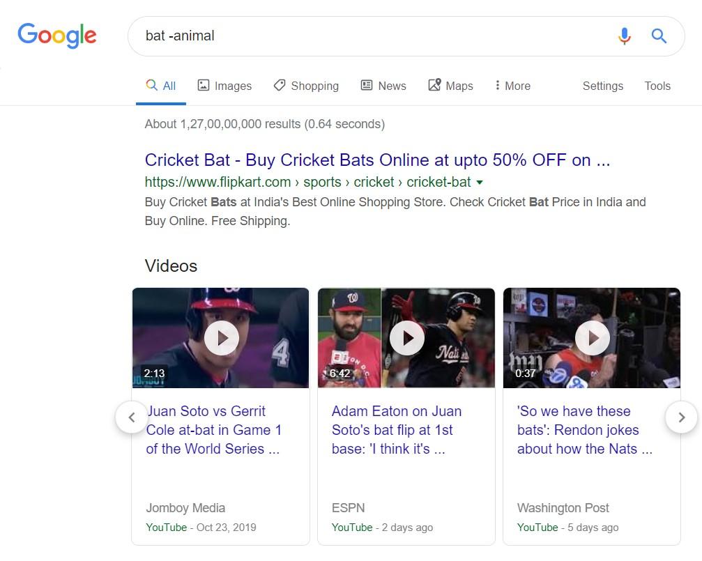 hyphen search