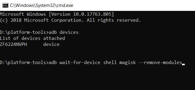 remove modules command