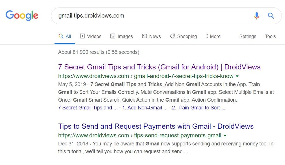 search specific site