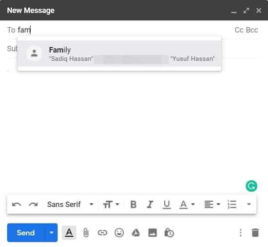 send group emails