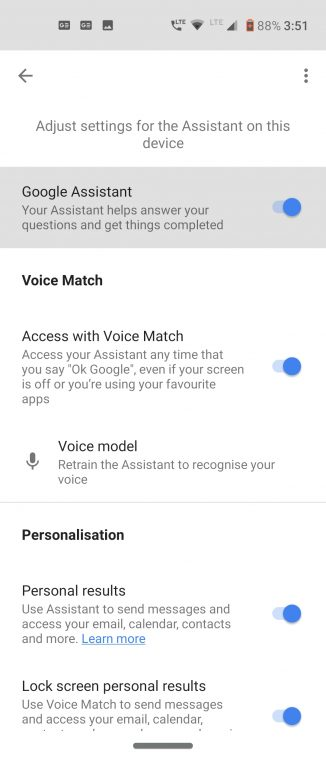 turn off assistant