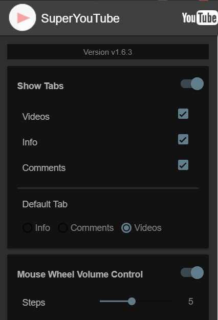 watch videos menu