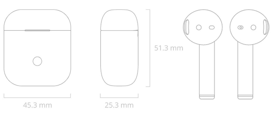 Realme Buds Air dimensions