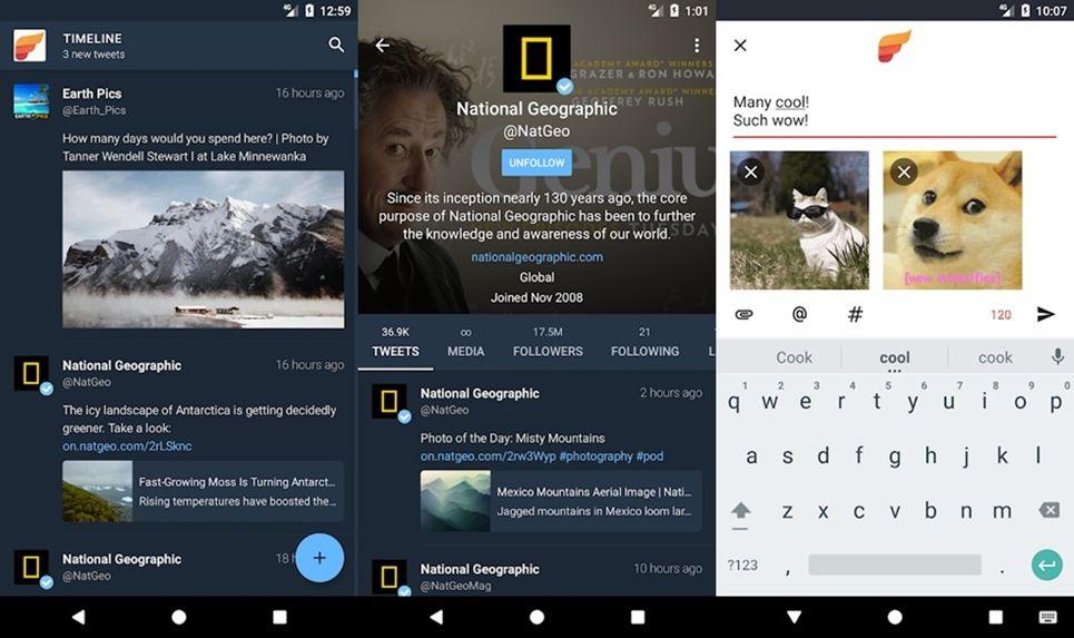 fenix 2 twitter client app