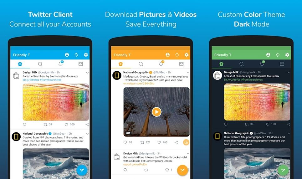 friendly twitter client app