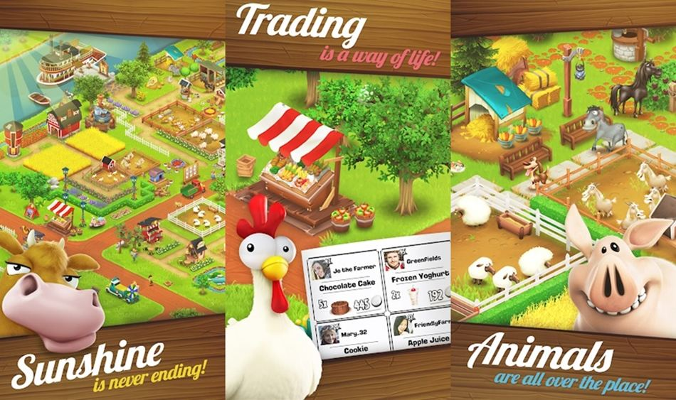 Hay Day farming games on Android