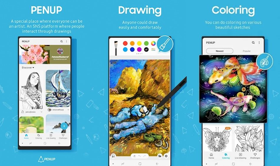 PenUp drawing app