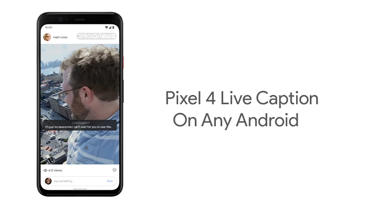 Pixel 4 Live Caption