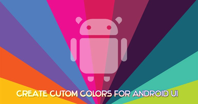 android ui custom colors