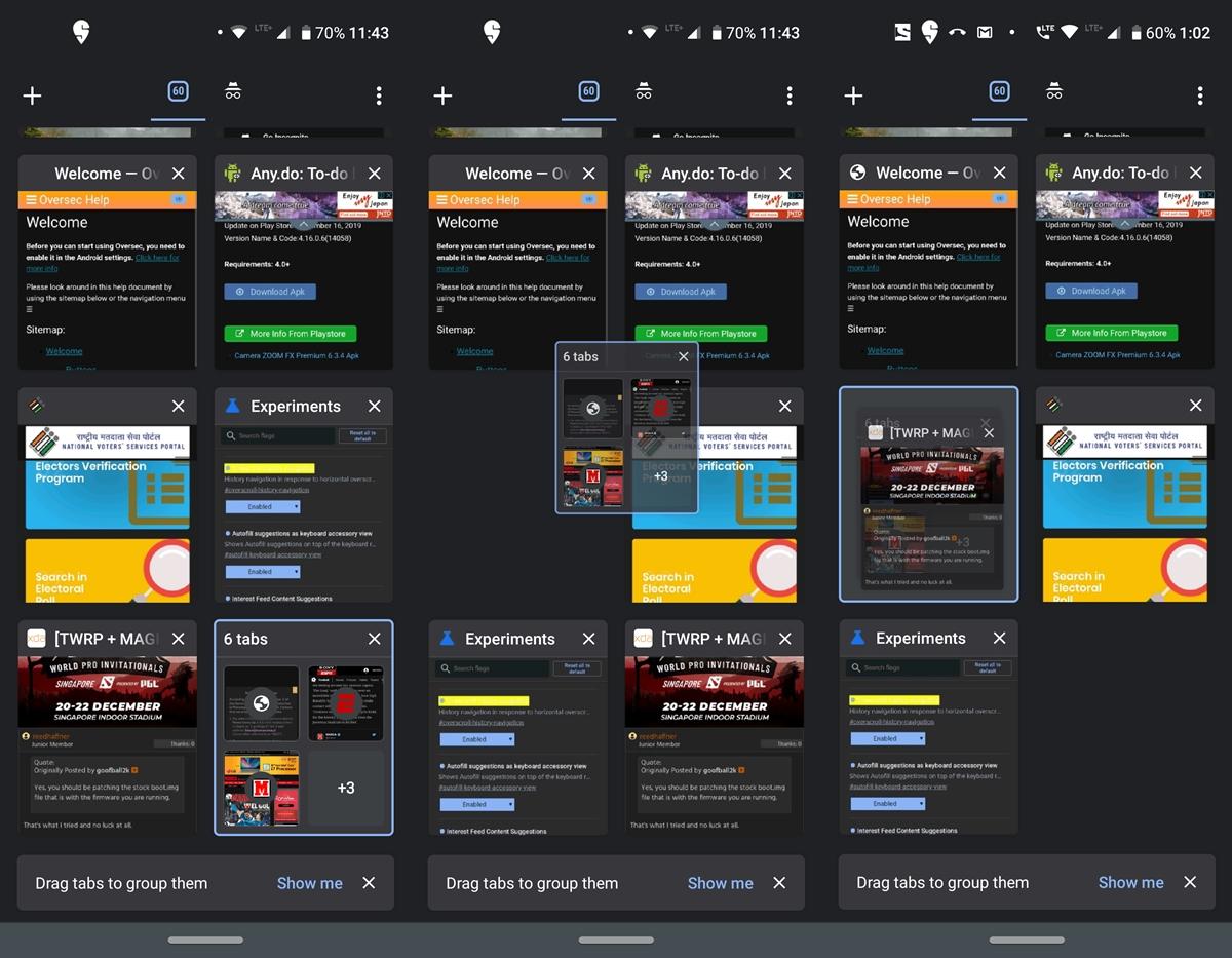 managing chrome tabs