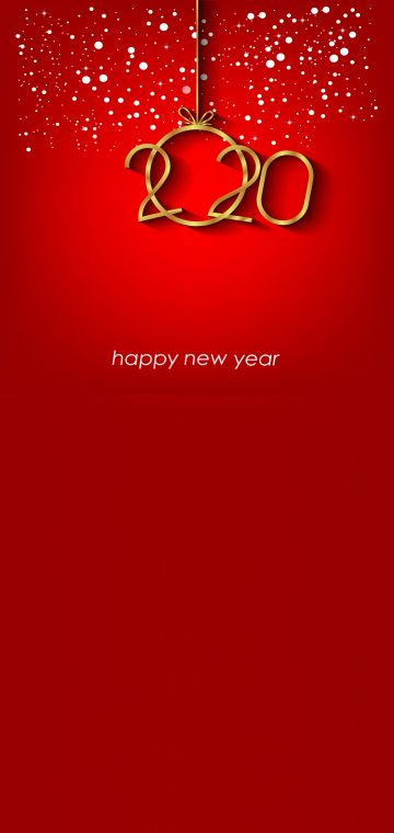 new year 2020 red wallpaper