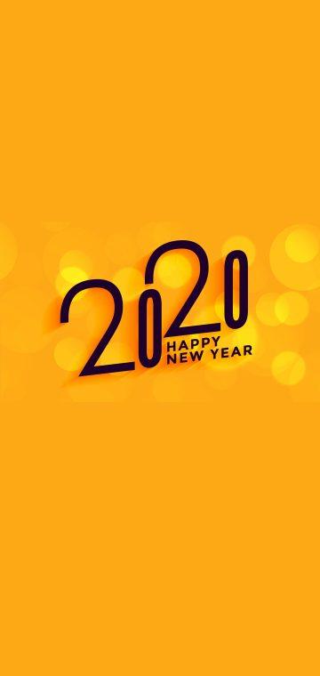 new year 2020 yellow wallpaper