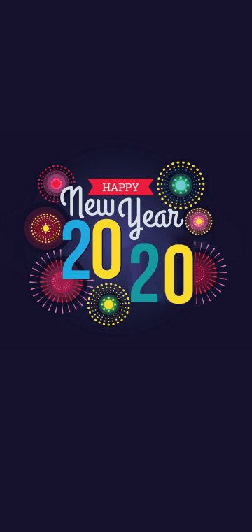 new year 2020 colored wallpaper