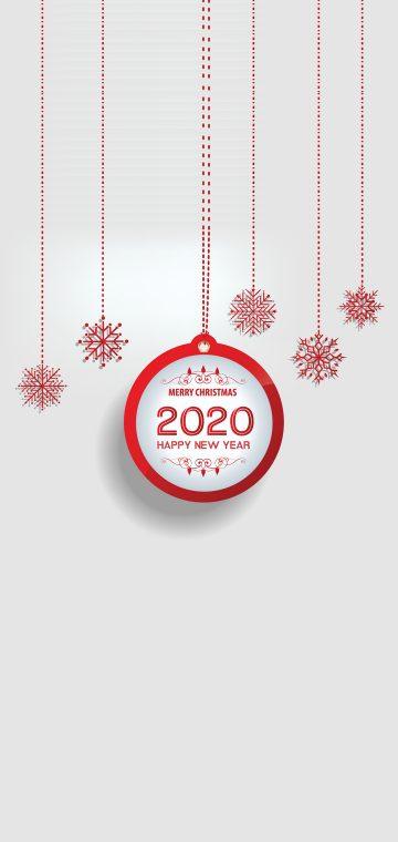 new year 2020 white wallpaper