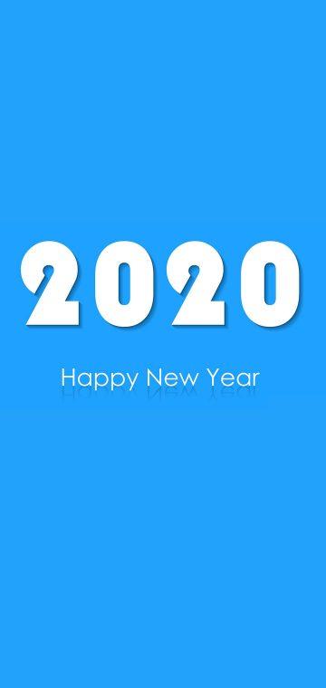 new year 2020 plain blue wallpaper
