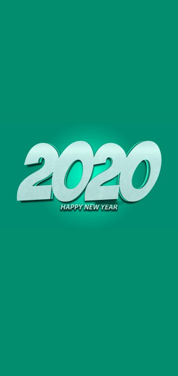 new year 2020 green wallpaper