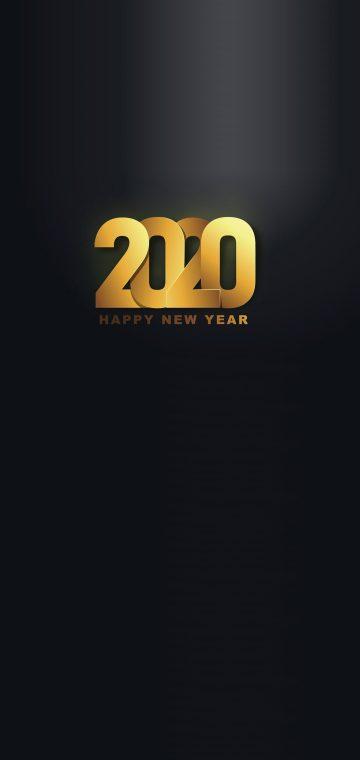 new year 2020 dark gold wallpaper