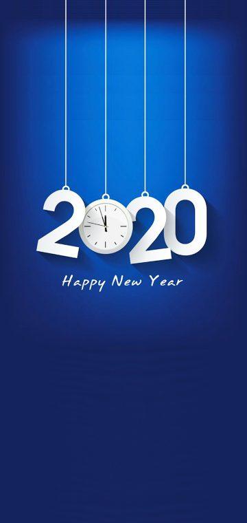 new year 2020 clock wallpaper