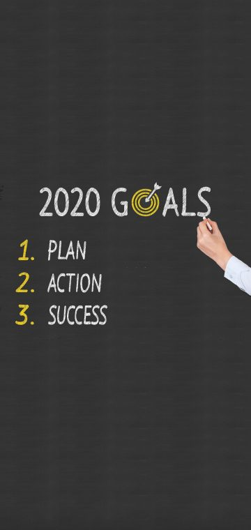 new year 2020 goals wallpaper