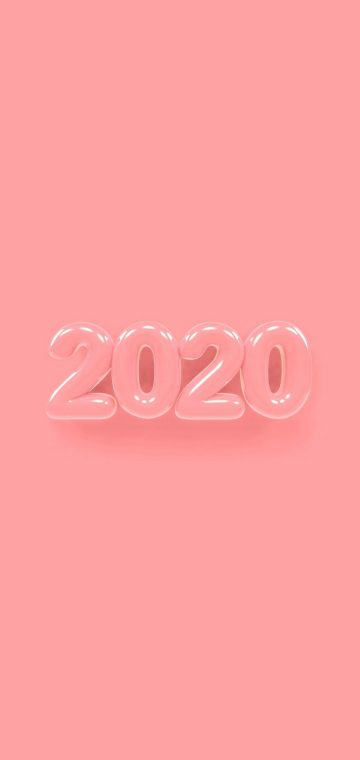 new year 2020 pink jelly wallpaper