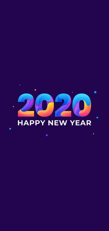 new year 2020 colorful wallpaper
