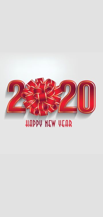 new year 2020 shiney red wallpaper