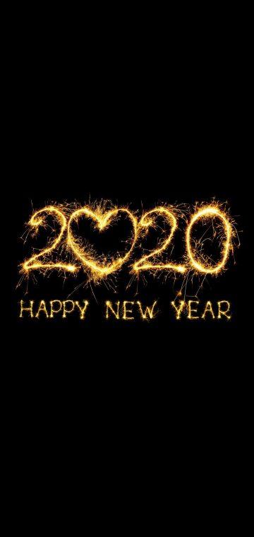 new year 2020 firewoorks wallpaper