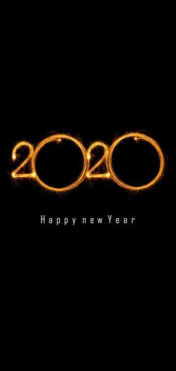 new year 2020 black wallpaper