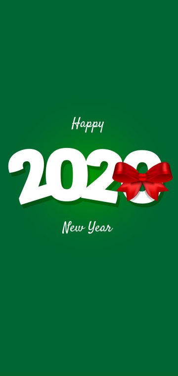 new year 2020 green wallpaper