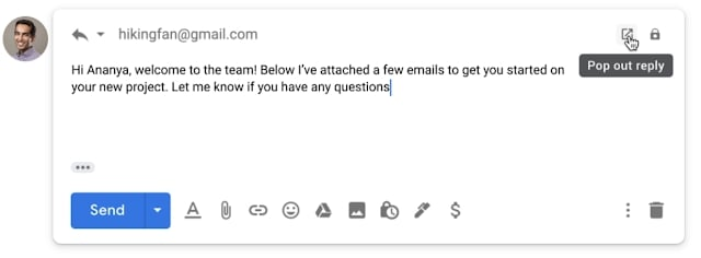 reply email gmail