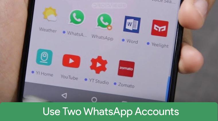 Two WhatsApp Accounts on OnePlus