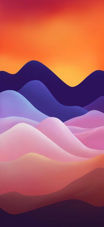 ZTE MiFavor 10 orange purple wallpaper