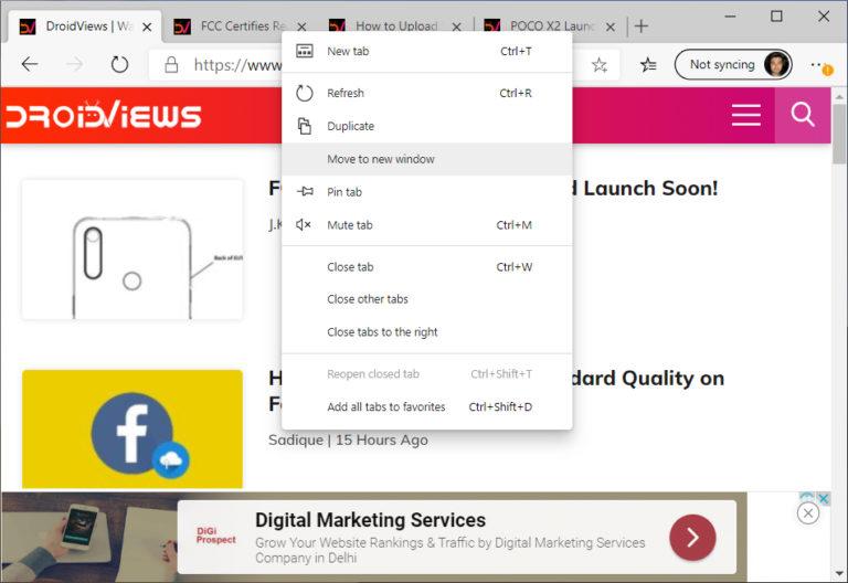 Microsoft edge features to Chrome