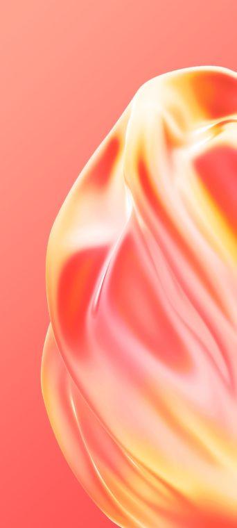peach liquid wallpaper