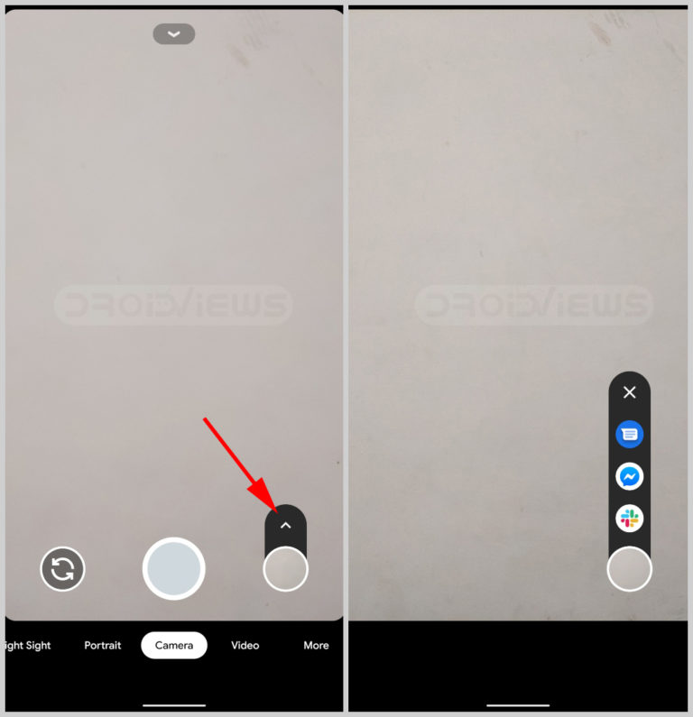 share photos directly from camera on Google Pixel
