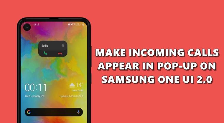 incoming calls pop-up