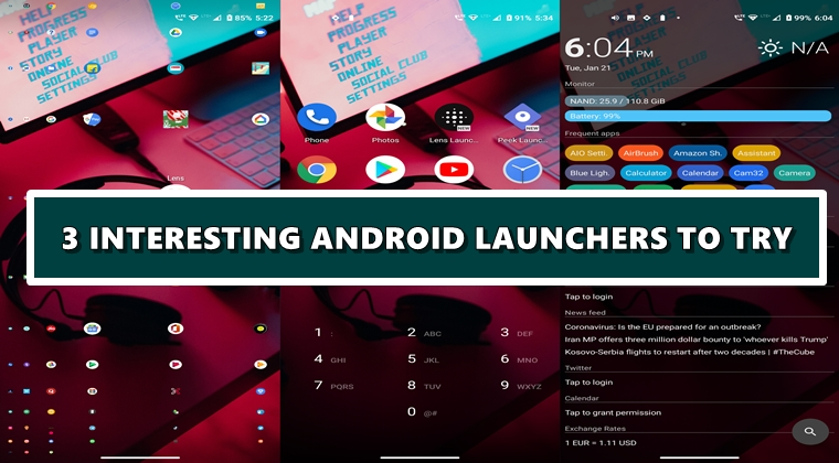interesting launchers android