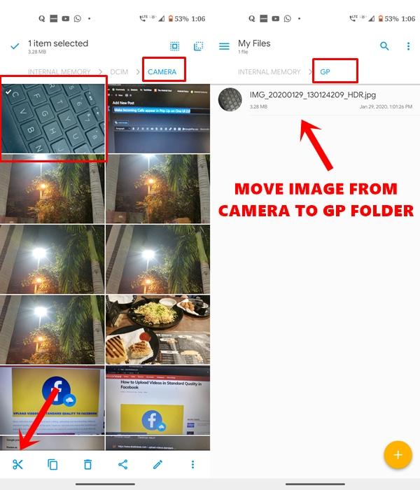 move photo image