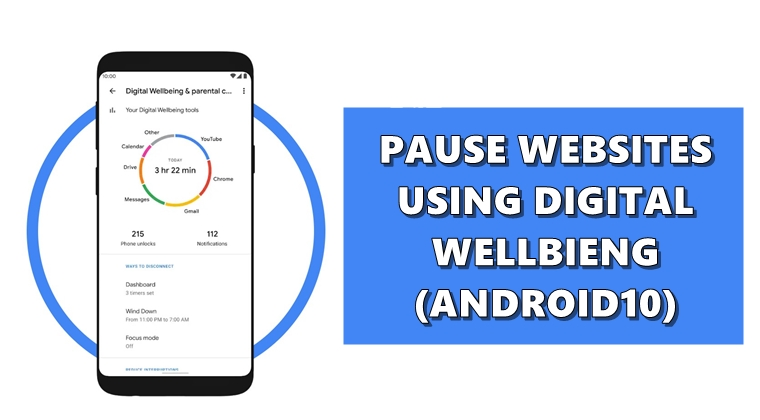pause websites android 10