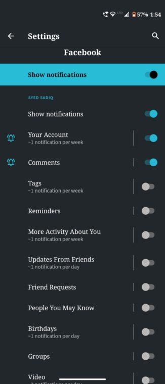 reset app notifications