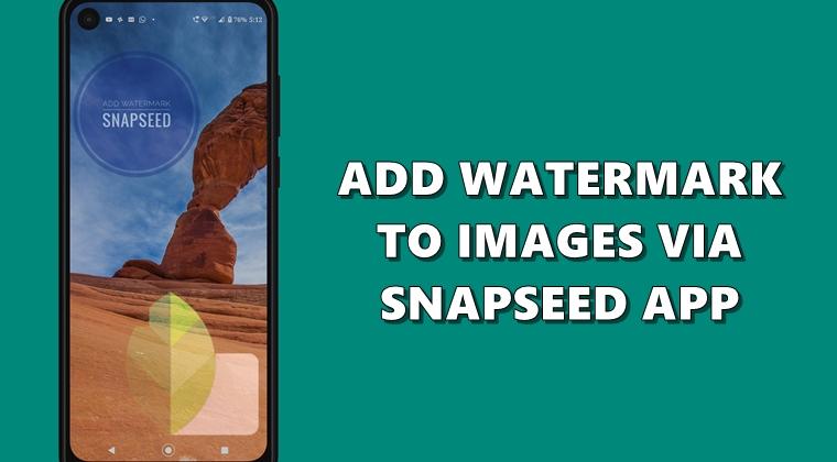 snapseed watermark