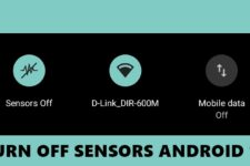 turn off sensors android 10
