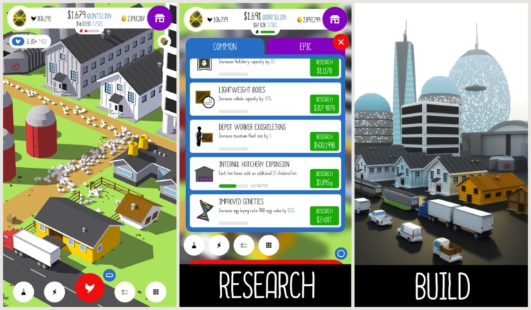 Best Farming Games On Android: Egg, Inc.