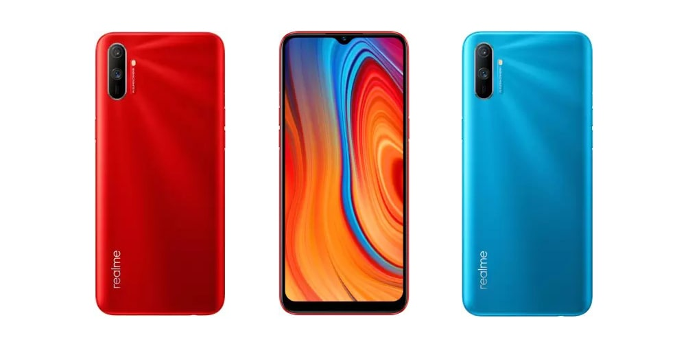 Realme C3 front and back