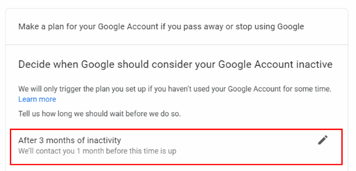 google account auto delete