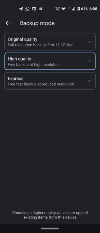 backup photos storage