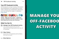 manage facebook activity